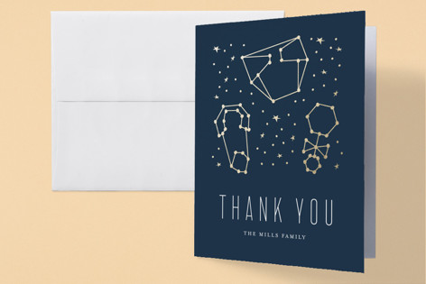 Celestial Foil-Pressed Baby Shower Thank You Cards
