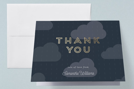 Rain Cloud Parade Foil-Pressed Baby Shower Thank You Cards