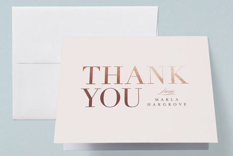 Baby Space Foil-Pressed Baby Shower Thank You Cards