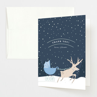 """""""Oh Deer"""" - Foil-pressed Baby Shower Thank You Cards in Boyish by Creo Study."""