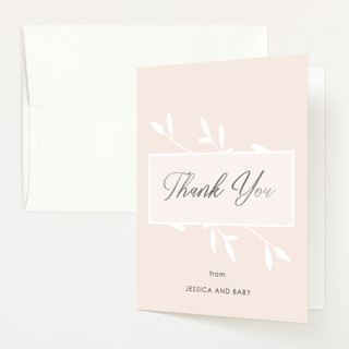 """""""Gently Framed"""" - Foil-pressed Baby Shower Thank You Cards in Fairy by David Michuki."""