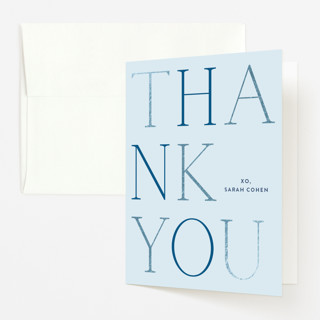 """boy oh boy!"" - Modern Foil-pressed Baby Shower Thank You Cards in Azure by Annie Shapiro."