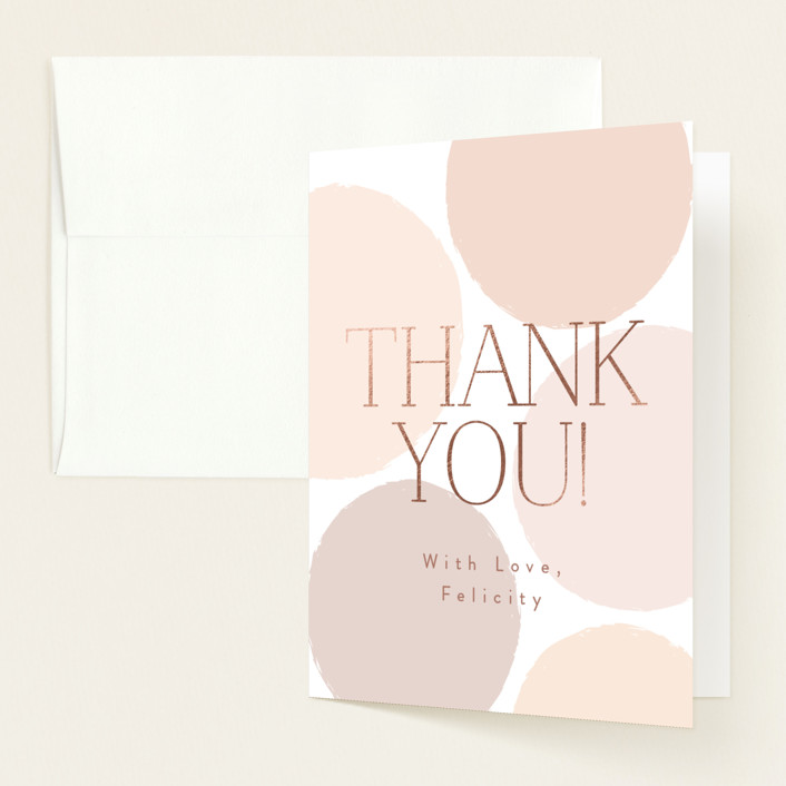 """""""Oh Baby!"""" - Preppy Foil-pressed Baby Shower Thank You Cards in Blush by Angela Thompson."""