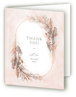 This is a brown baby shower thank you card by Pixel and Hank called Pompas with foil-pressed printing on strathmore in standard.