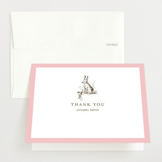 Classic Bunny Baby Shower Thank You Cards