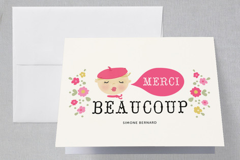Bonjour Bebe Baby Shower Thank You Cards