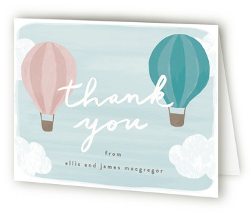 Buoyant Baby Shower Thank You Cards