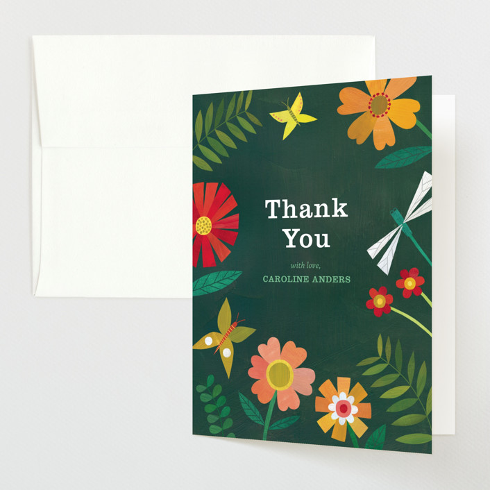 """""""Garden Border"""" - Baby Shower Thank You Cards in Forest by melanie mikecz."""