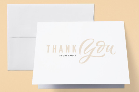 Hey girl Baby Shower Thank You Cards