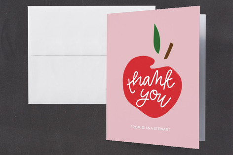 Apple of her Eye Baby Shower Thank You Cards