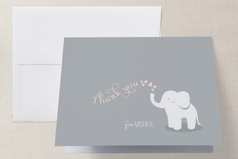 Baby Elephant Baby Shower Thank You Cards by Lori ... | Minted