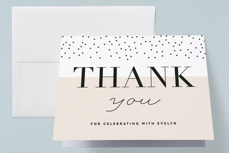 charming dots Baby Shower Thank You Cards