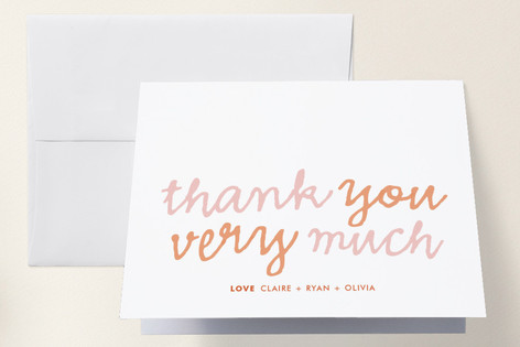 Goo Goo Baby Shower Thank You Cards