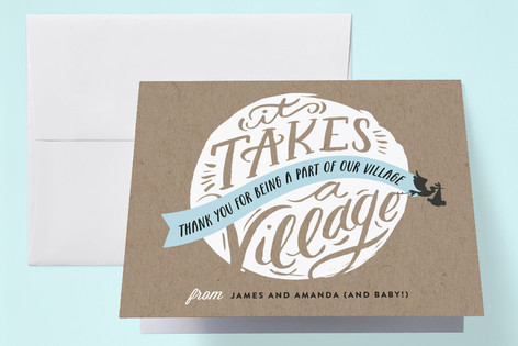 It Takes A Village Baby Shower Thank You Cards