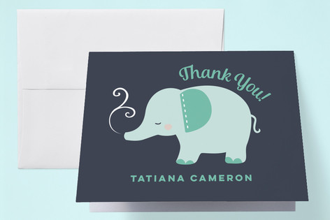 Elefante Baby Shower Thank You Cards