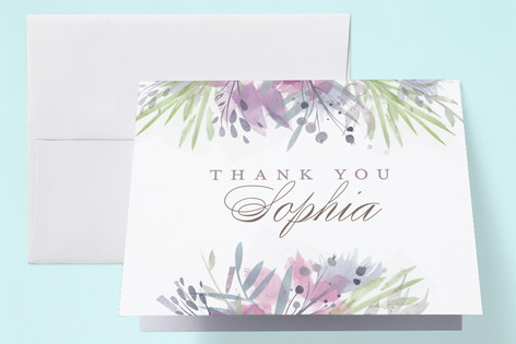 Floral Shower Baby Shower Thank You Cards