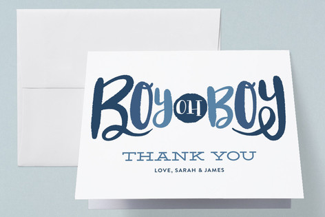 Boy oh Boy Tie Baby Shower Thank You Cards