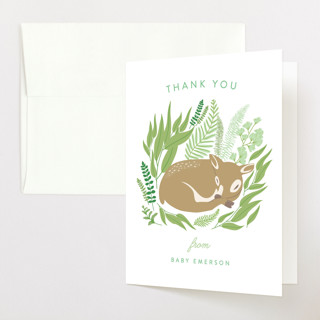 Forest Fawn Baby Shower Thank You Cards
