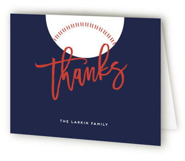 Baseball Baby Shower Thank You Cards