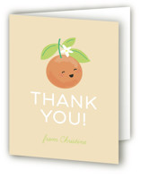 This is a orange baby shower thank you card by Itsy Belle Studio called Little Cutie with standard printing on strathmore in standard.
