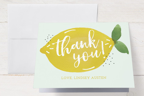sweet lemon Baby Shower Thank You Cards