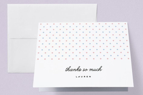 TWIN PINS Baby Shower Thank You Cards
