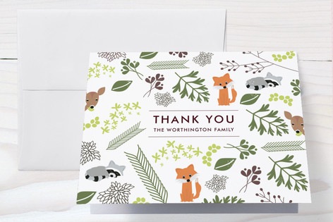 Woodland Arrival Baby Shower Thank You Cards