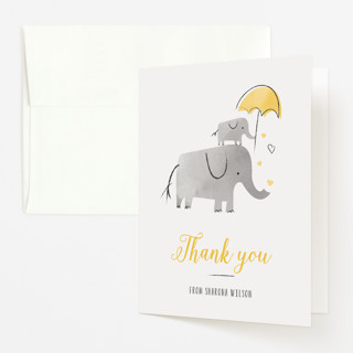 Elephant Love Baby Shower Thank You Cards