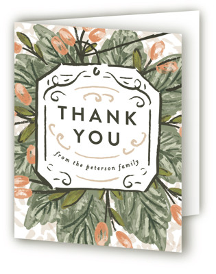 Tea Time Bouquet Baby Shower Thank You Cards
