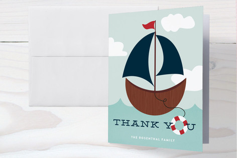 Ahoy, Boy! Baby Shower Thank You Cards