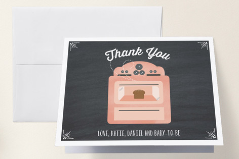 Bun in the Oven Baby Shower Thank You Cards