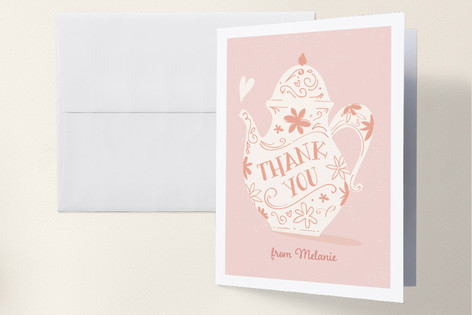 Tea Time Baby Shower Thank You Cards