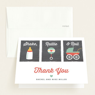 Shake, Rattle & Roll Baby Shower Thank You Cards