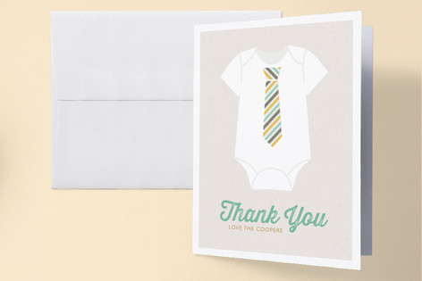 Tied Baby Shower Thank You Cards