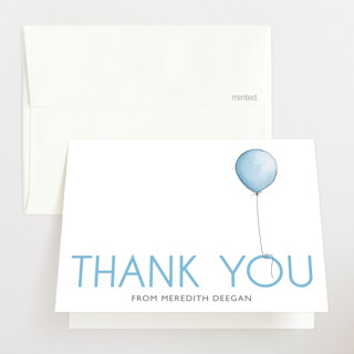 Boy Balloon Baby Shower Thank You Cards