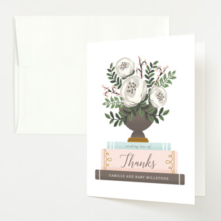 Storybook Stack Baby Shower Thank You Cards
