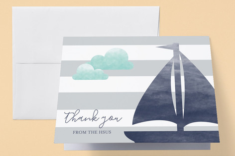 Set Sail Adventure Baby Shower Thank You Cards