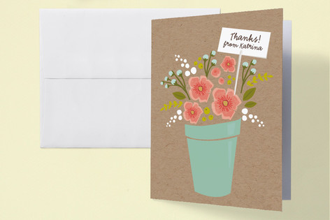 Special Delivery Bouquet Baby Shower Thank You Cards