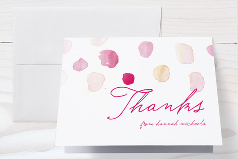 Splash of Colour Baby Shower Thank You Cards
