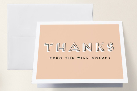 Bouncing Baby Girl Baby Shower Thank You Cards