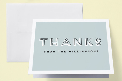 Bouncing Baby Boy Baby Shower Thank You Cards