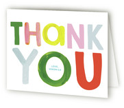 This is a colorful baby shower thank you card by Baumbirdy called Bright Colorful Baby with standard printing on strathmore in standard.