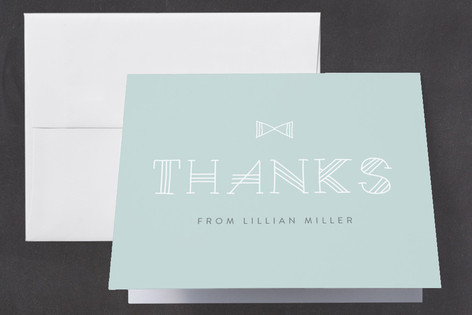 New Little Man Baby Shower Thank You Cards