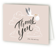 This is a pink baby shower thank you card by Leah Bisch called Greatest Gift with standard printing on strathmore in standard.
