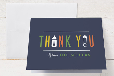 Playful Baby Shower Thank You Cards