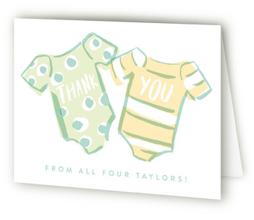 Onesie Twinsies Baby Shower Thank You Cards