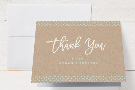 Dotted twins Baby Shower Thank You Cards