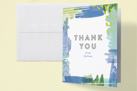 Pattern Mix Match Baby Shower Thank You Cards