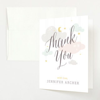 Shower Mobile Baby Shower Thank You Cards