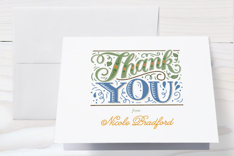 Over The River Baby Shower Thank You Cards